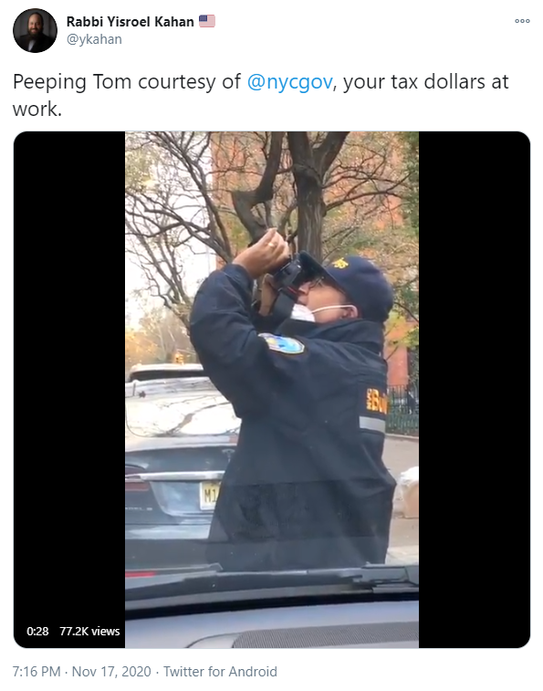 Video of the NYPD Taking Photos of the Jewish Community